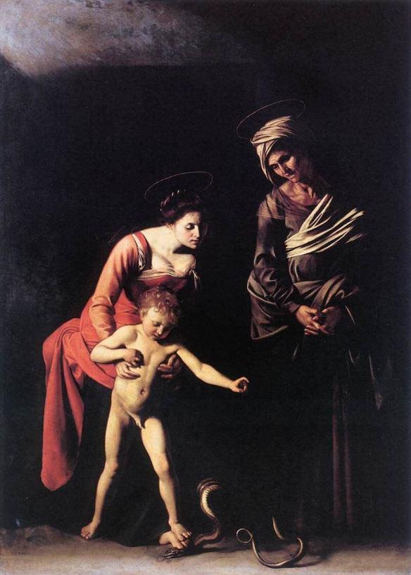 Караваджо Мадонна со змеей