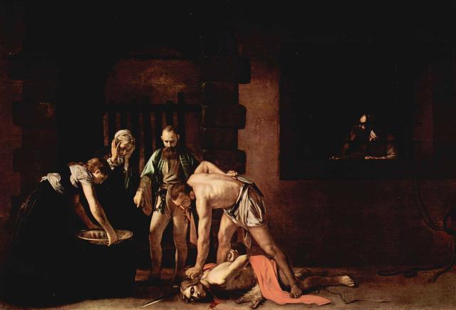 Караваджо усекновение главы Иоанна Крестителя