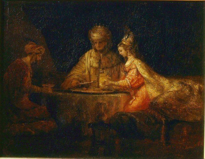 Рембрандт артаксеркс Аман и эсфирь