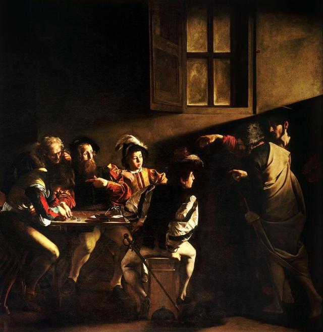 Караваджо призвание Матфея