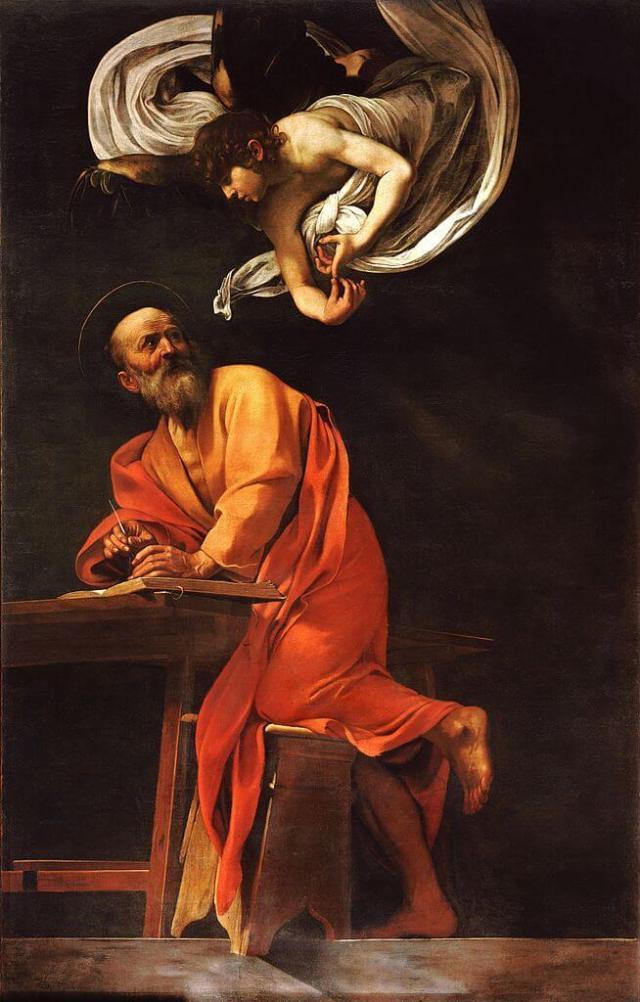 Караваджо Апостол Матфей и Ангел