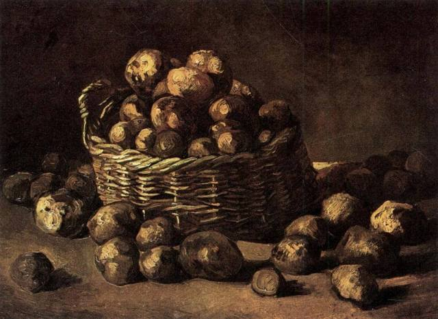 Ван Гог корзина с картофелем