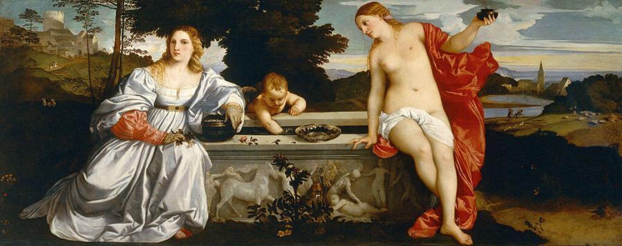 Тициан любовь земная и любовь небесная