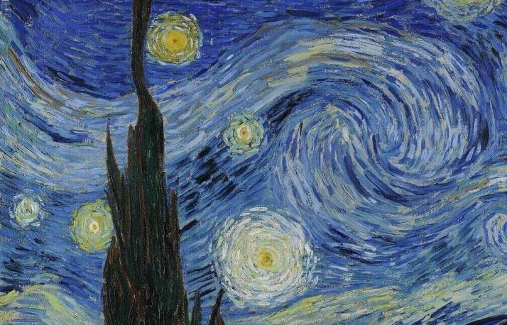 Ван Гог звездная ночь фрагмент
