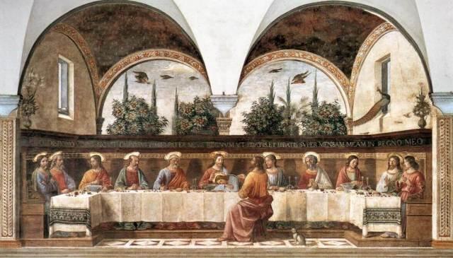 Гирландайо тайная вечеря