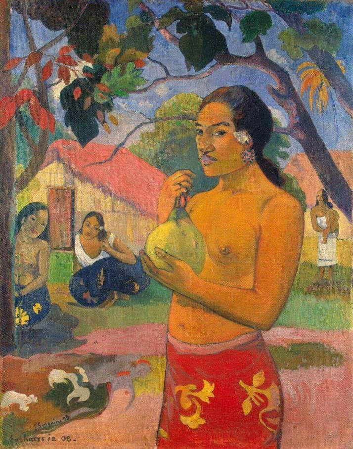 Гоген женщина держащая плод
