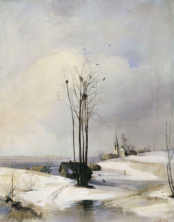 Саврасов грачи прилетели Астраханская галерея