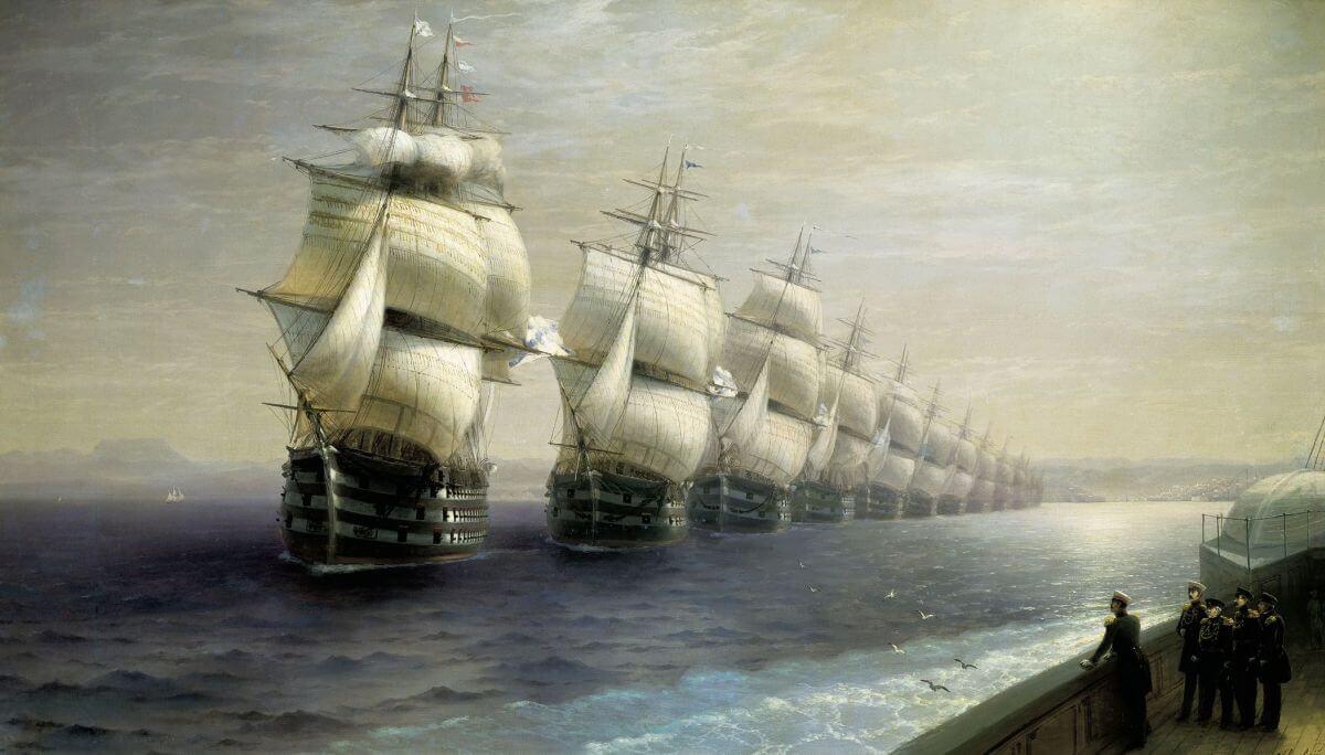 Айвазовский смотр черноморского флота