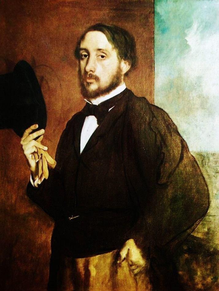 Дега автопортрет 1863 года