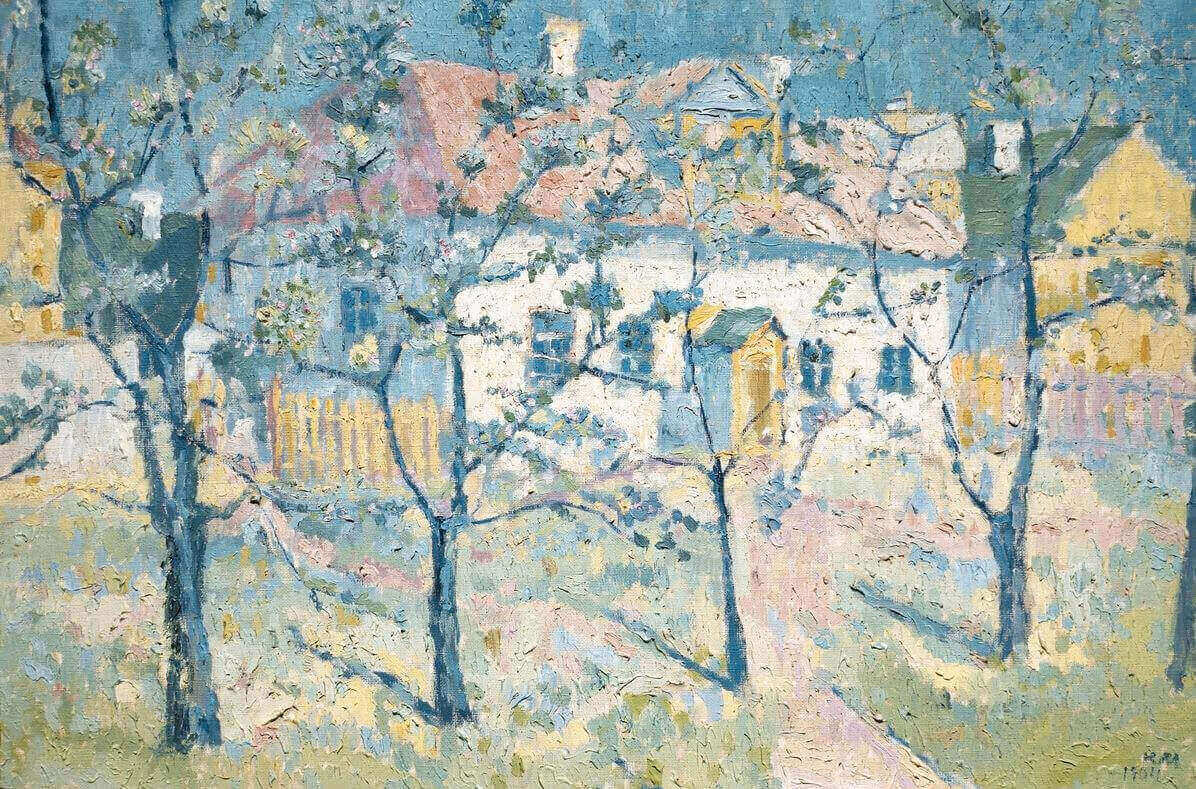 Малевич цветущий сад