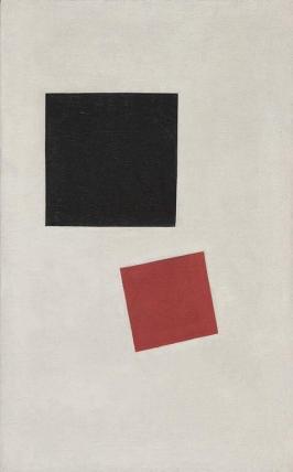Малевич. Чёрный и красный квадраты