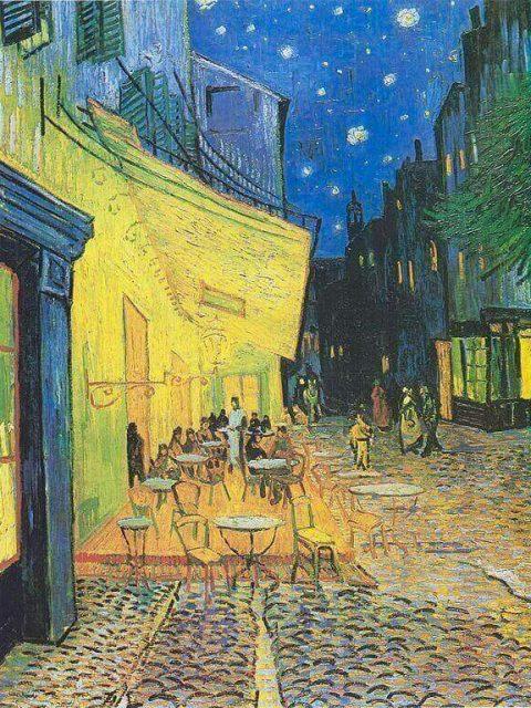Ван Гог ночная терраса кафе