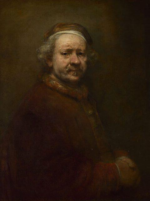 Рембрандт. Автопортрет в возрасте 63 лет.