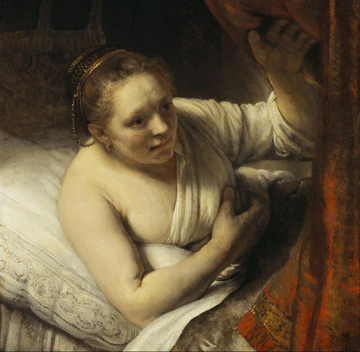 """Рембрандт. Картина """"Гертье Диркс"""""""