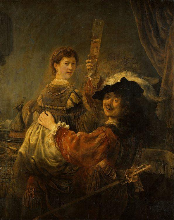 Рембрандт. Блудный сын в таверне.