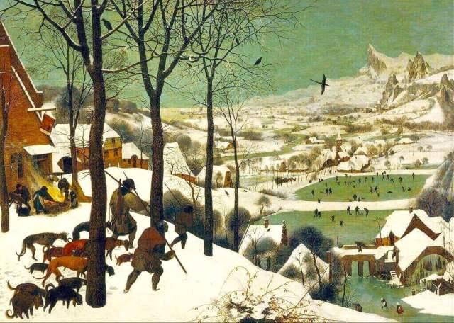 Брейгель охотники на снегу