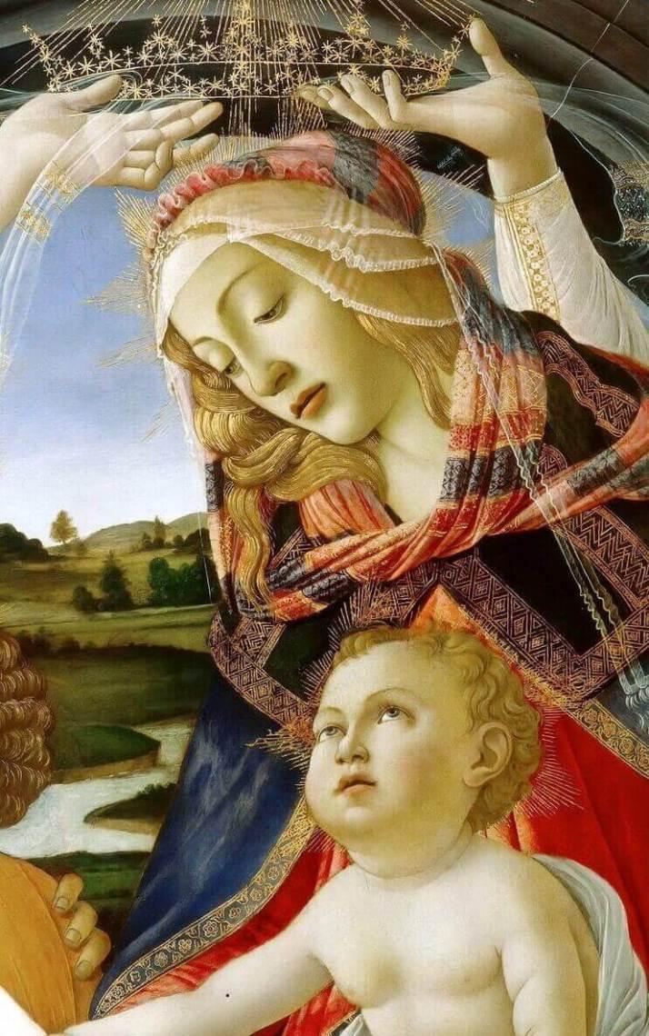 Боттичелли фрагмент Мадонна магнификат