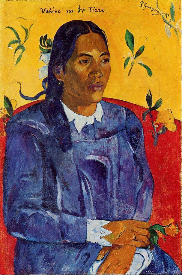 Гоген женщина с цветком