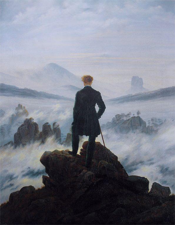 Каспар Фридрих странник над морем тумана