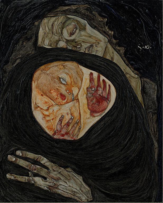 Шиле умирающая мать