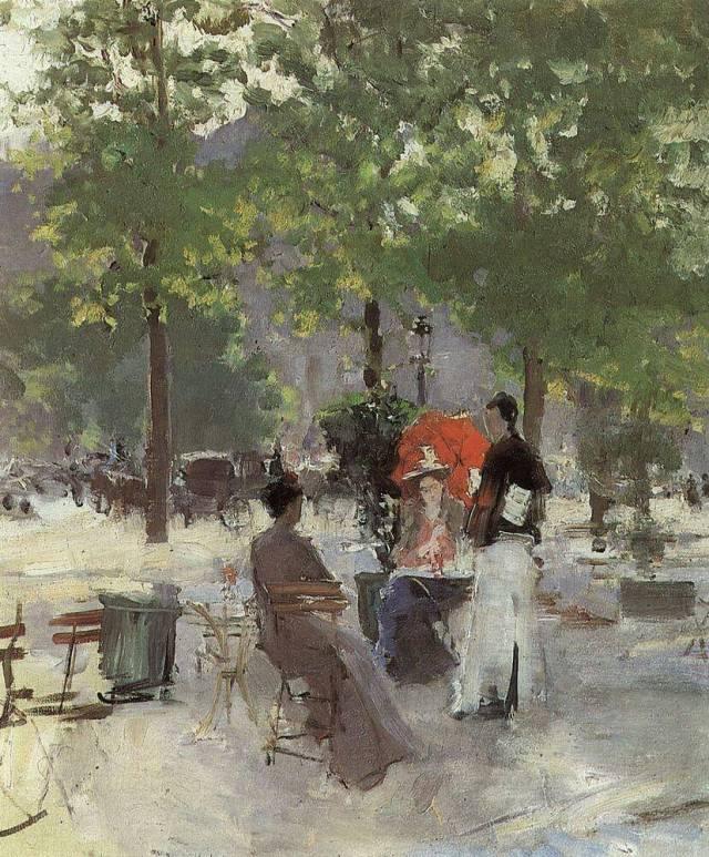 Коровин парижское кафе