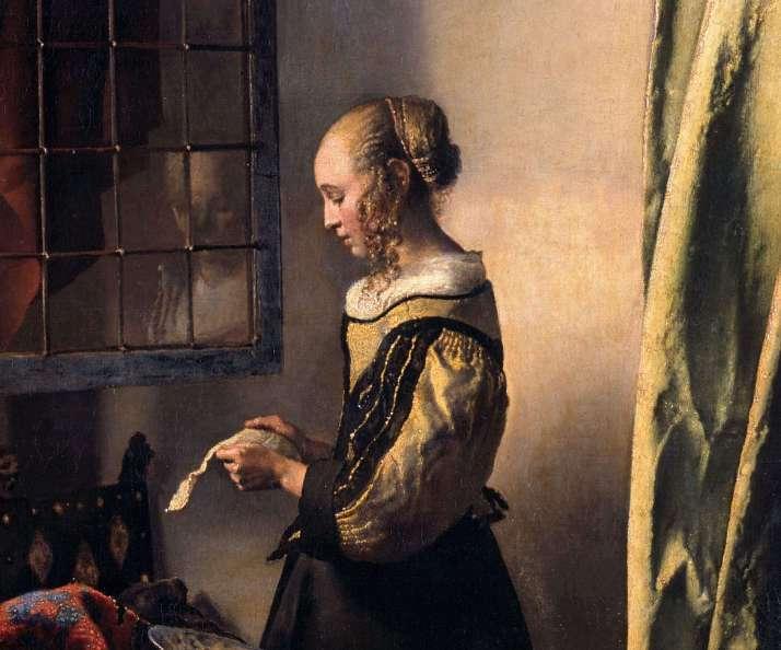 Вермеер девушка с письмом фрагмент