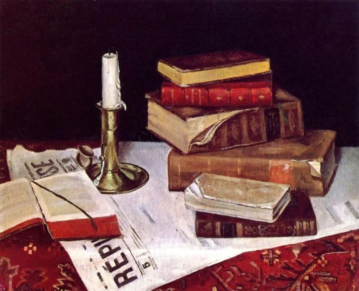 Матисс натюрморт с книгами и свечой