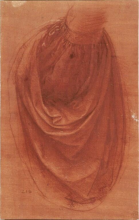 Леонардо эскиз спаситель мира правая рука