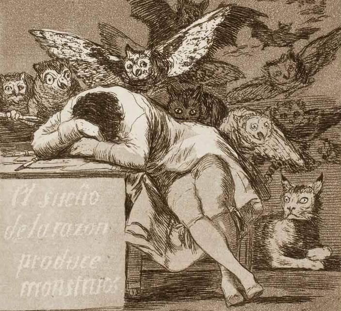 Гойя сон разума порождает чудовищ фрагмент