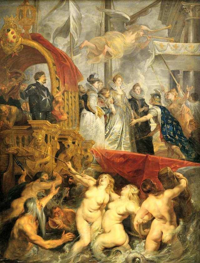 Рубенс прибытие Марии Медичи в Марсель