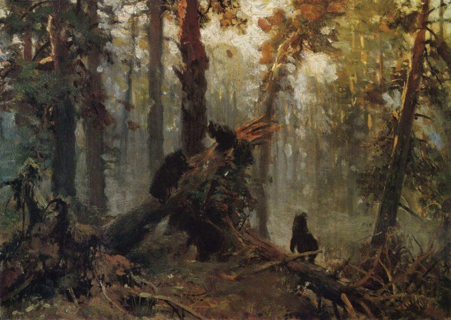 Шишкин эскиз Утро в сосновом лесу