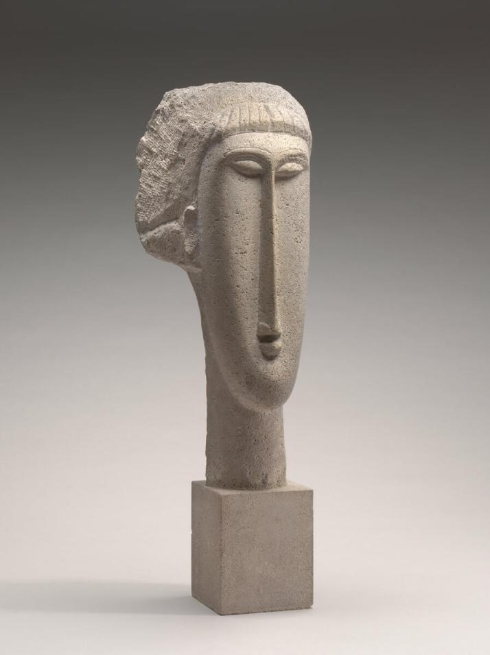 Модильяни скульптура голова женщины