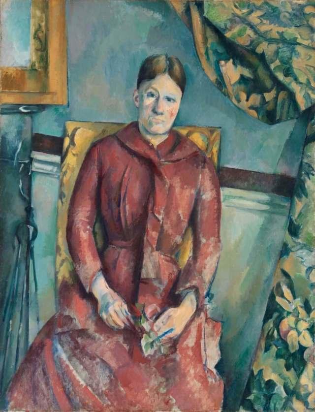 Сезанн мадам Сезанн в желтом кресле