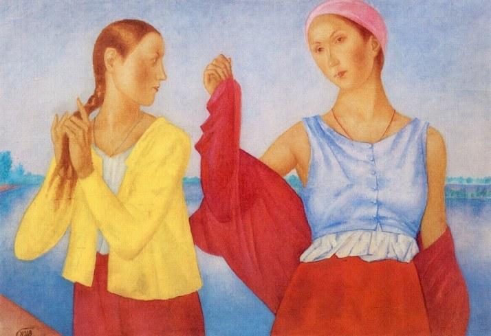 Петров-Водкин две девушки