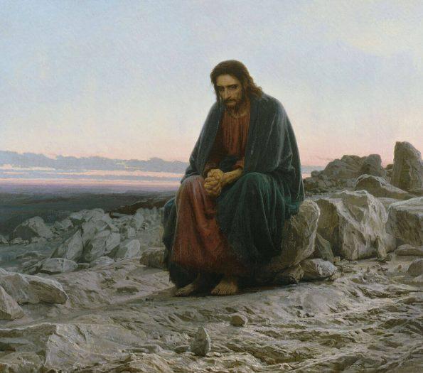 Иван Крамской. Христос в пустыне.