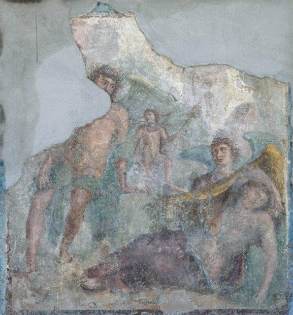 Вакх и Ариадна фреска
