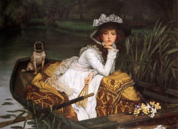 Джеймс Тиссо. Леди в лодке. 1876. Частная коллекция.