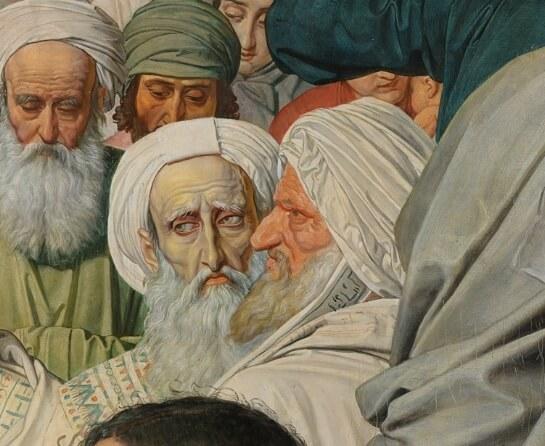 Деталь с фарисеями «Явления Христа народу»