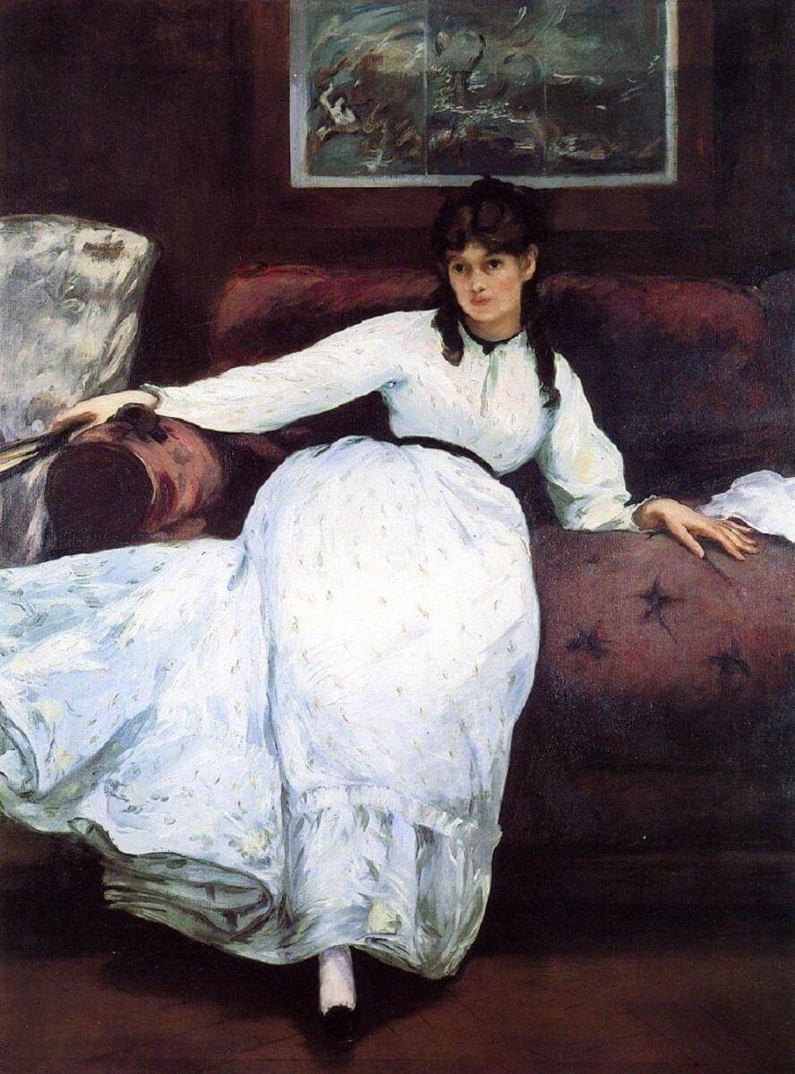 Мане портрет Берты Моризо отдых