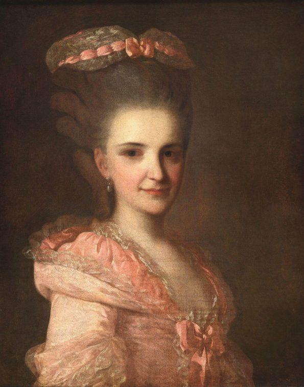 Рокотов дама в розовом