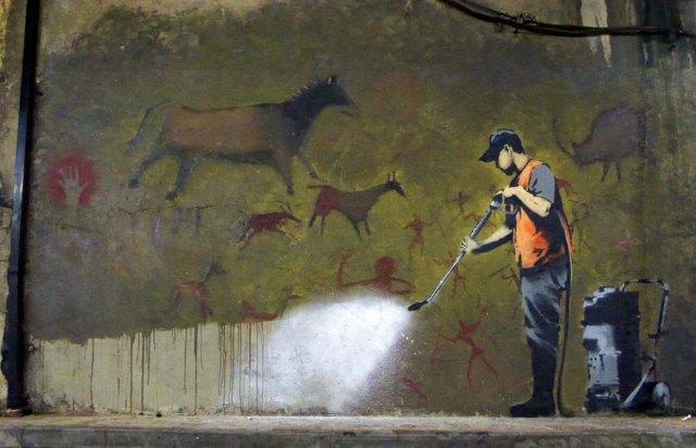 Бэнкси как уничтожают искусство по незнанию