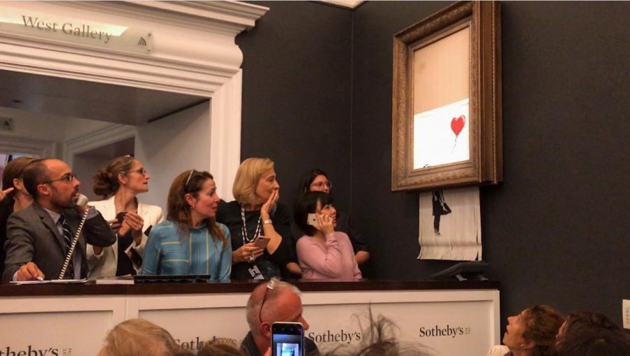 Работа Бэнкси на аукционе