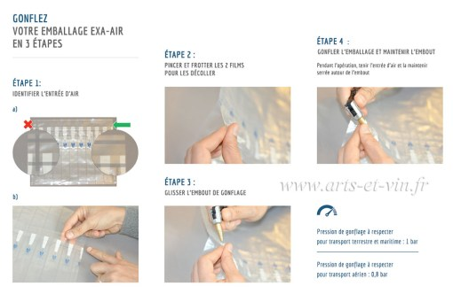 Instructions gonflage pour protection air bouteilles