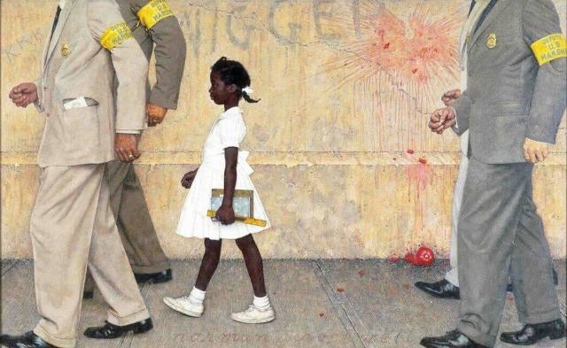 Norman Rockwell. The Problem We All Live With. 1964.