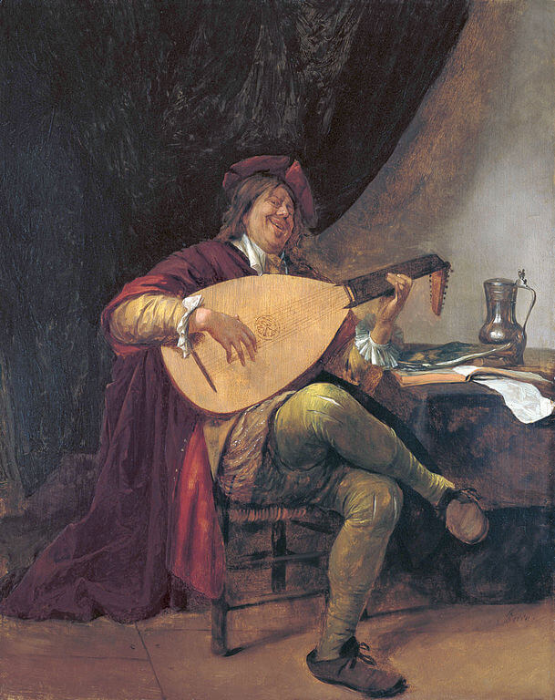 Steen Self-portrait playing the lute