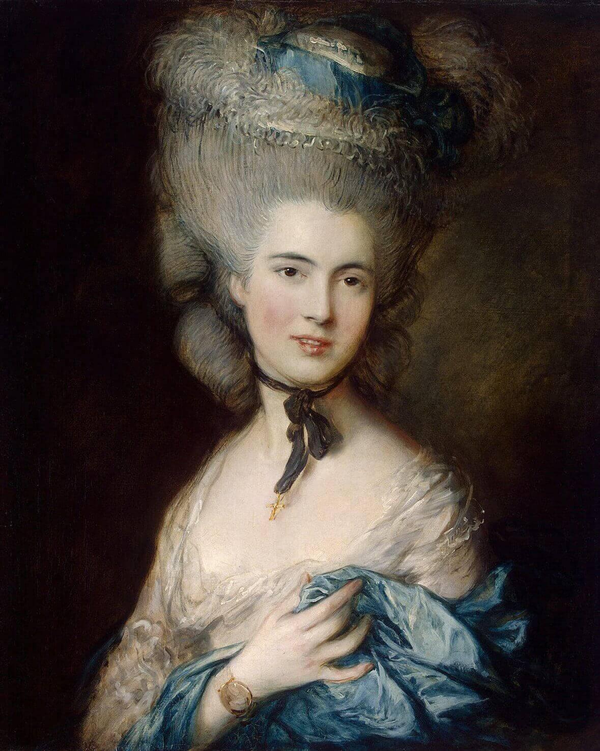 Thomas Gainsborough. Portrait of a Lady in Blue. 1778-1782