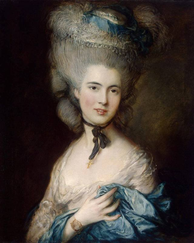 Thomas Gainsborough. Portrait of a Lady in Blue. 1778-1782