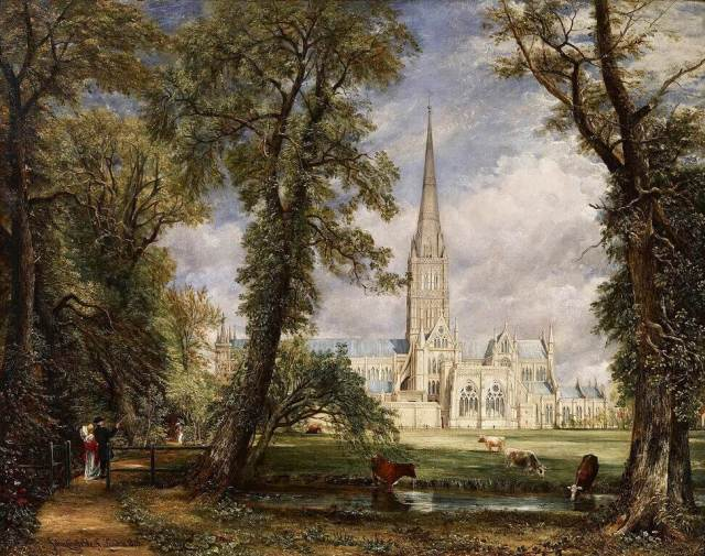John Constable. Salisbury Cathedral from the Bishop's Grounds. 1826.