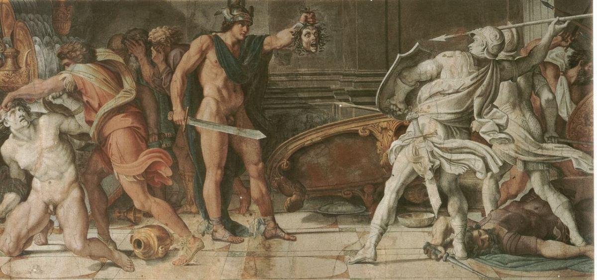 Carracci. Perseus and Phineus