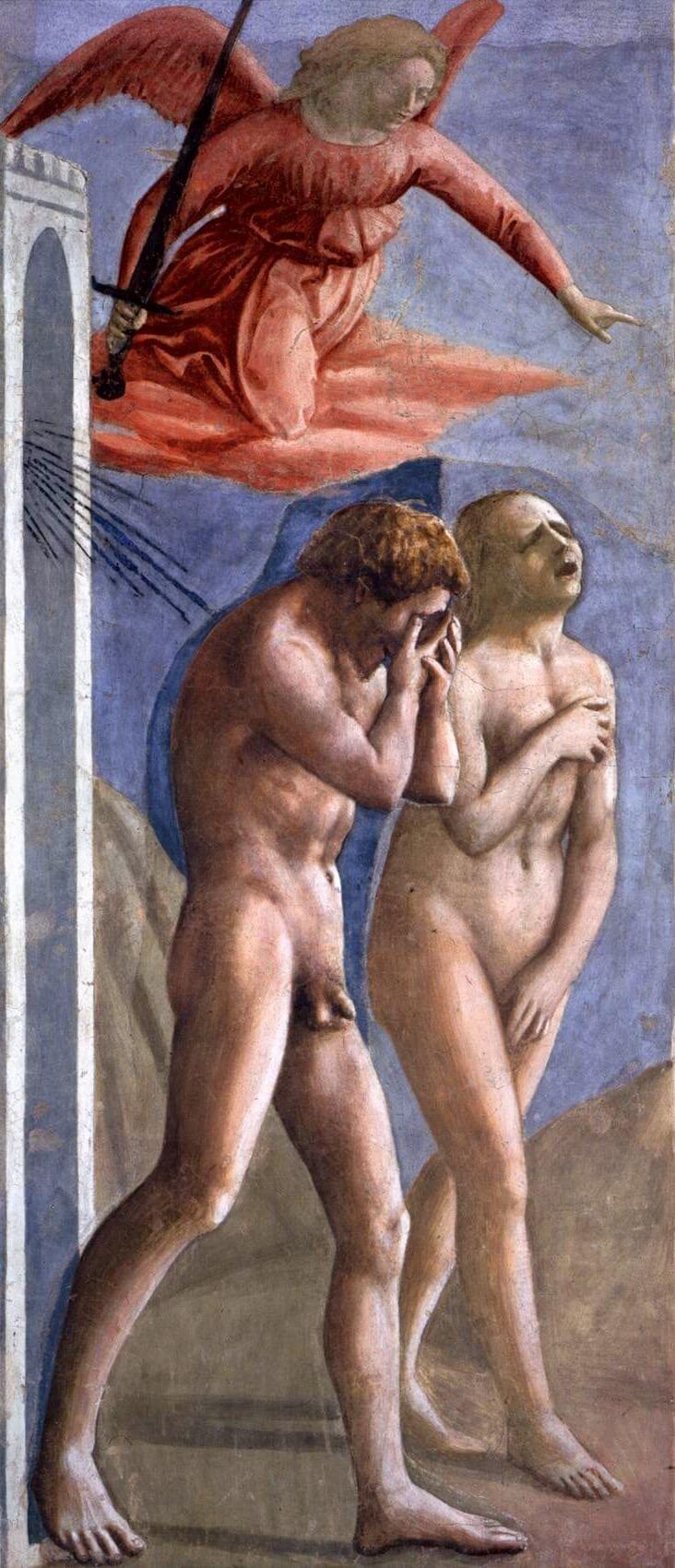 Masaccio. Expulsion from Paradise